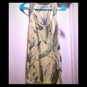 Feather Print Tank Top